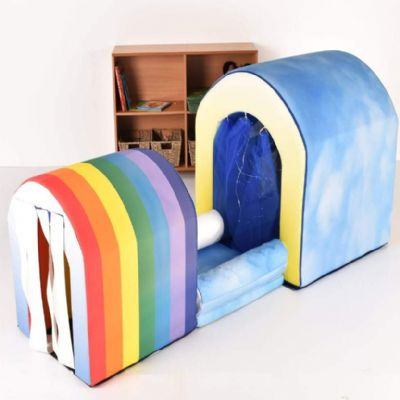 Sensory Tunnels Set Rainbow,Sensory tunnels,soft play tunnels,childrens play tunnels,soft play resources for schools and other organisations, sensory products for those on the autistic spectrum, lifetime education